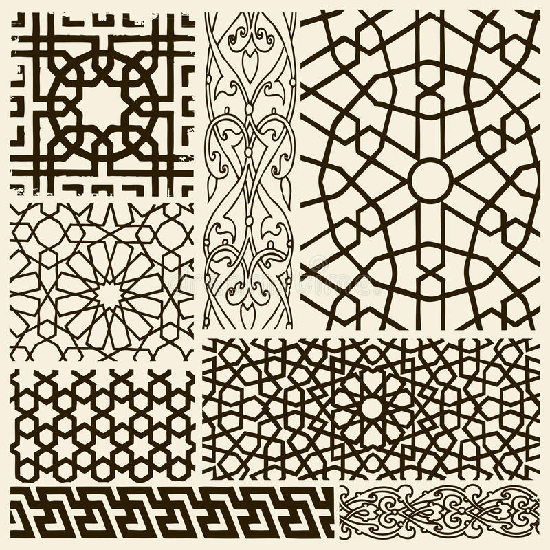 Disegni di Arabesque illustrazione di stock