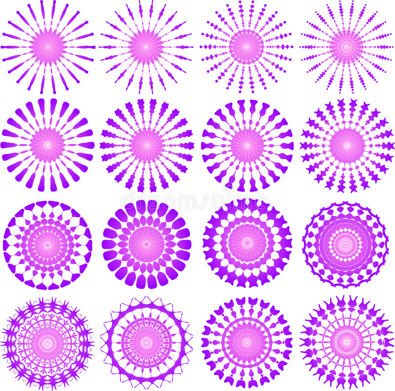 Disegni di colore rosa illustrazione vettoriale