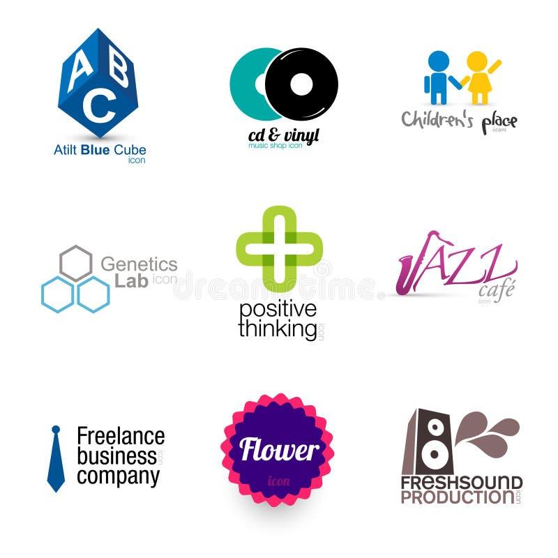 Disegni di marca moderni - insieme 1 illustrazione di stock
