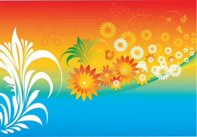 Download Disegni floreali illustrazione vettoriale. Illustrazione di panoramico - 3149172