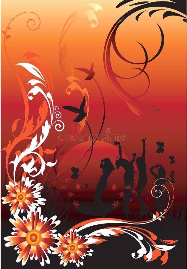 Disegni floreali, royalty illustrazione gratis