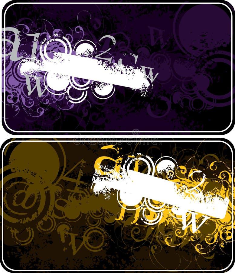 Disegni floreali luminosi illustrazione di stock