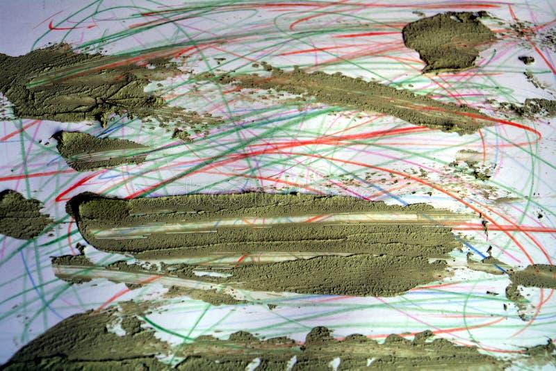 Disegni a matita le linee ed il fango sporco, fondo astratto immagine stock libera da diritti