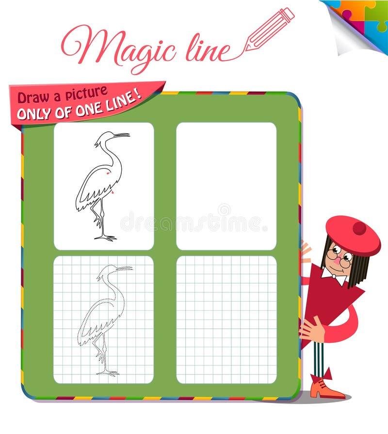 Disegni un'immagine soltanto di un airone illustrazione di stock