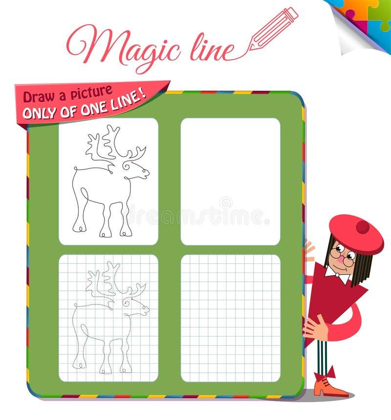 Disegni un'immagine soltanto di un cervo 2 illustrazione di stock