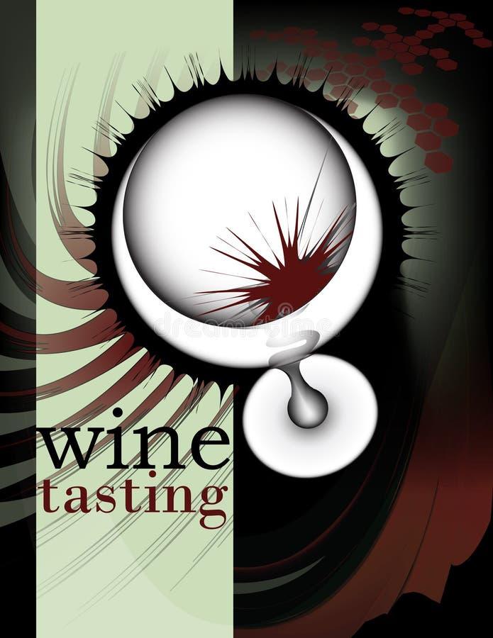 Disegno 2 del manifesto e dell'aletta di filatoio del vino royalty illustrazione gratis
