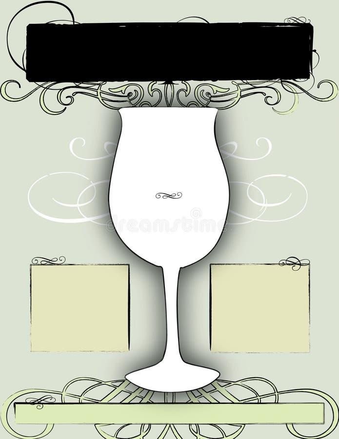 Disegno 3 del manifesto e dell'aletta di filatoio del vino illustrazione di stock