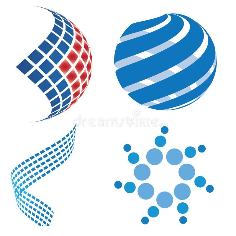 Disegno 3D di marchio di affari illustrazione vettoriale
