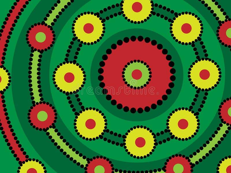 Disegno aborigeno illustrazione vettoriale