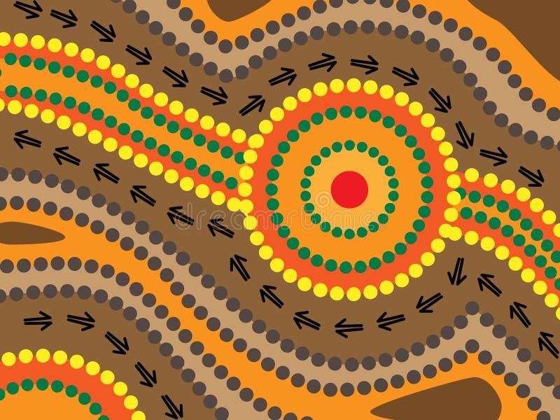 Disegno aborigeno royalty illustrazione gratis