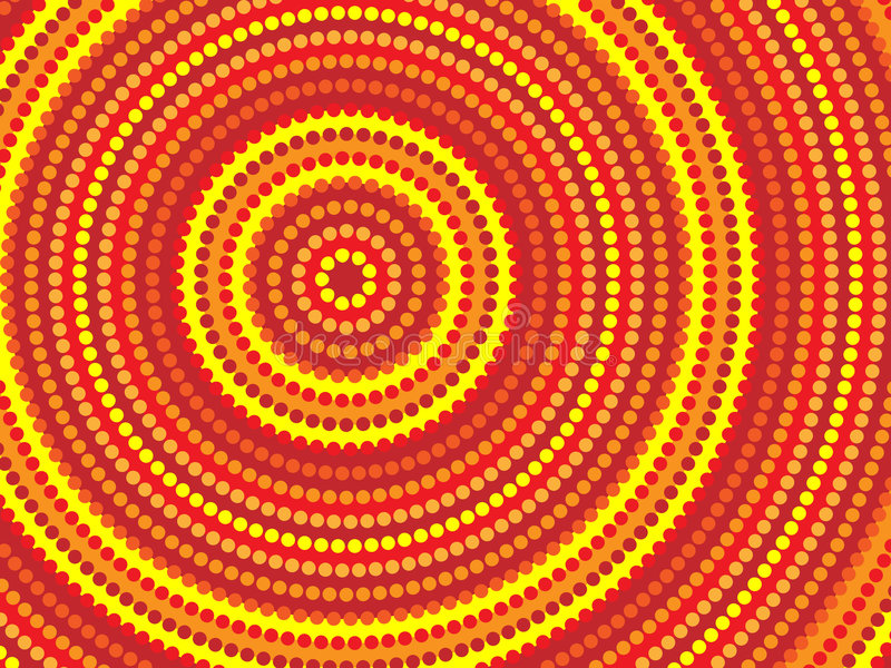 Disegno aborigeno illustrazione di stock