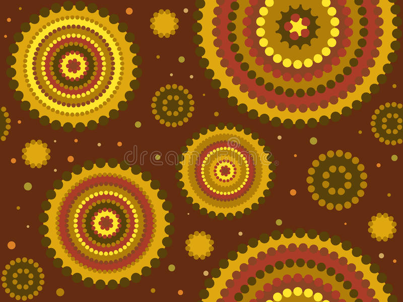 Disegno aborigeno del puntino illustrazione di stock