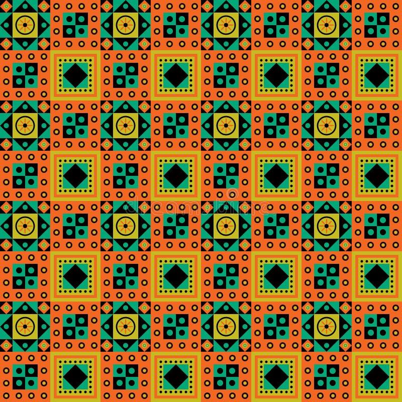 Disegno africano del reticolo illustrazione vettoriale