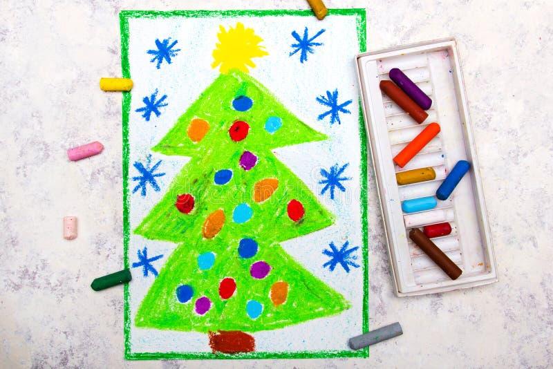 Disegno: Albero di Natale bello royalty illustrazione gratis