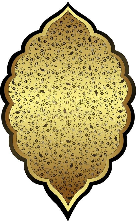 Disegno antico dell'oro dell'ottomano illustrazione di stock