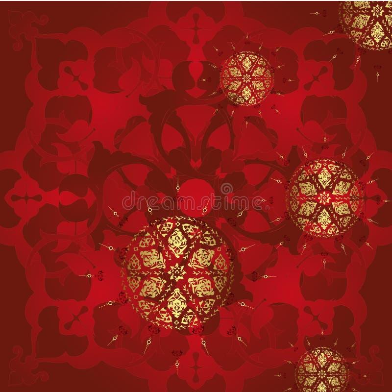 Disegno antico dell'oro dell'ottomano royalty illustrazione gratis