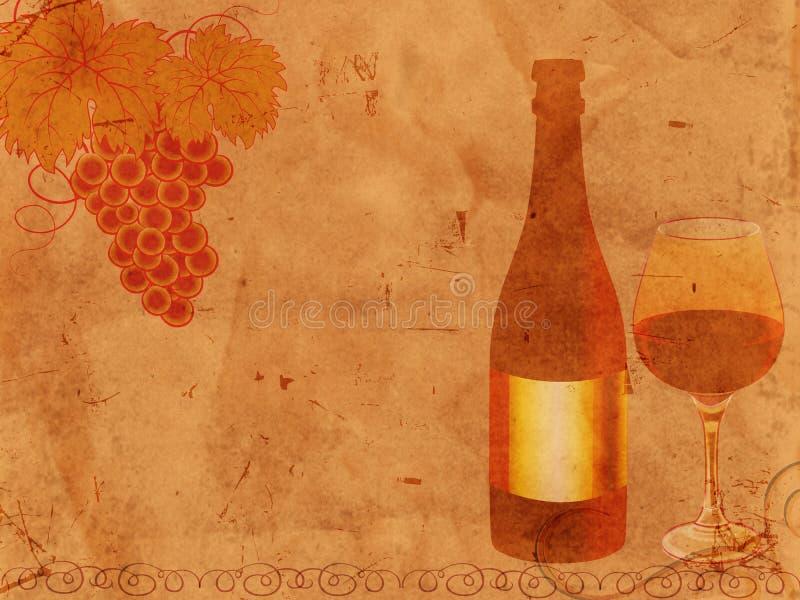 Disegno antiquato del vino illustrazione di stock