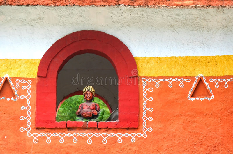 Disegno architettonico indiano tradizionale immagini stock libere da diritti