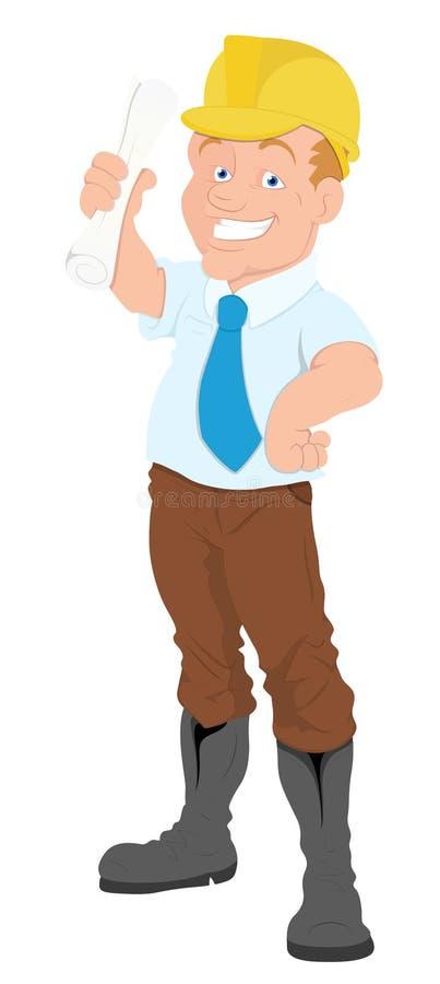 Architetto - personaggio dei cartoni animati - illustrazione di vettore illustrazione di stock