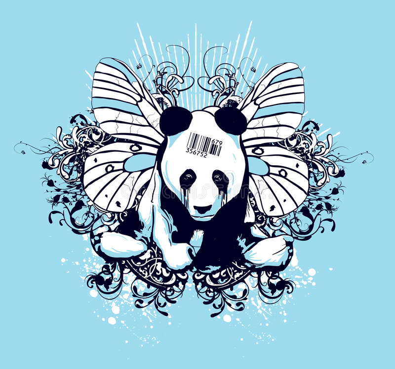 Disegno Artistico Del Panda Immagini Stock Libere da Diritti
