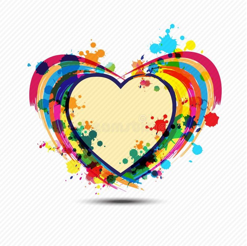 Disegno artistico della vernice del cuore illustrazione di stock