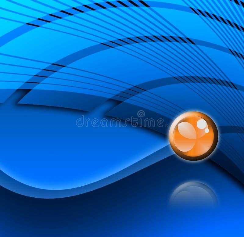 Disegno astratto blu con il simbolo illustrazione di stock