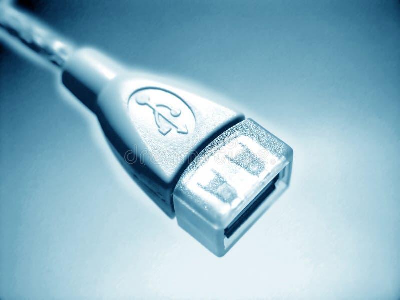 Disegno astratto blu del USB royalty illustrazione gratis