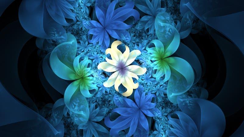 Disegno astratto dei fiori immagine stock libera da diritti