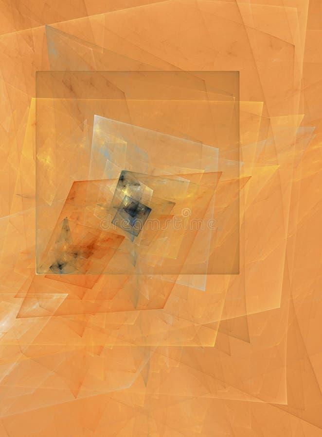 Disegno astratto del cubist illustrazione vettoriale