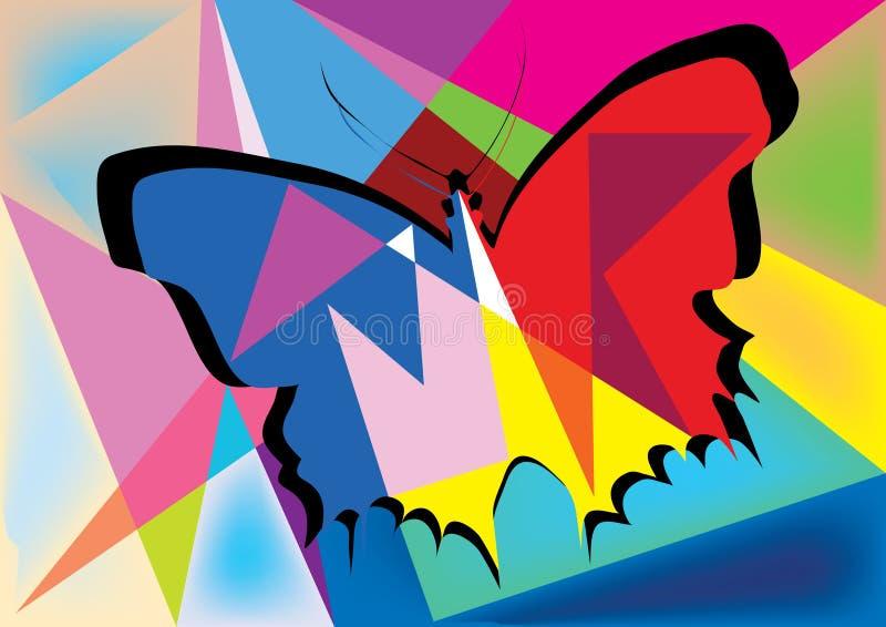 Disegno astratto della farfalla illustrazione vettoriale for Quadri da copiare