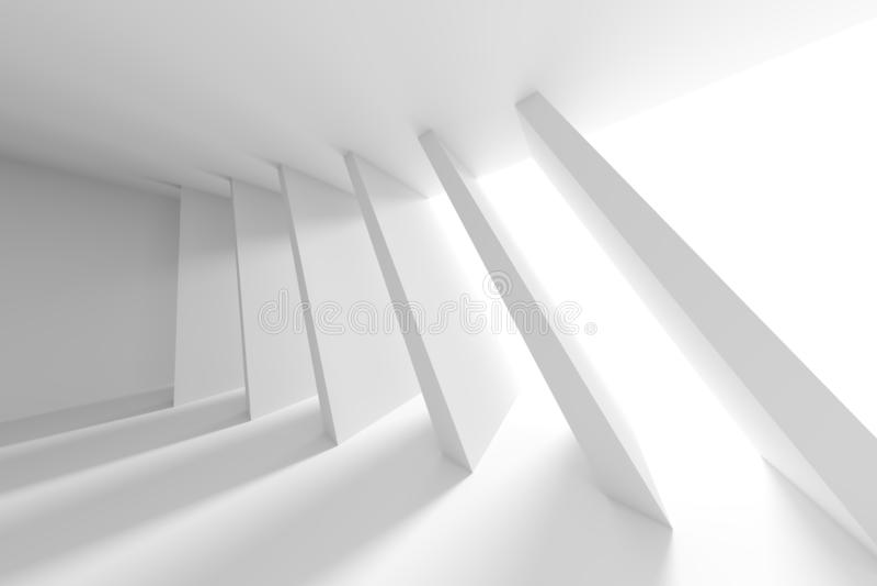 Disegno astratto di architettura Backgrou interno futuristico bianco royalty illustrazione gratis