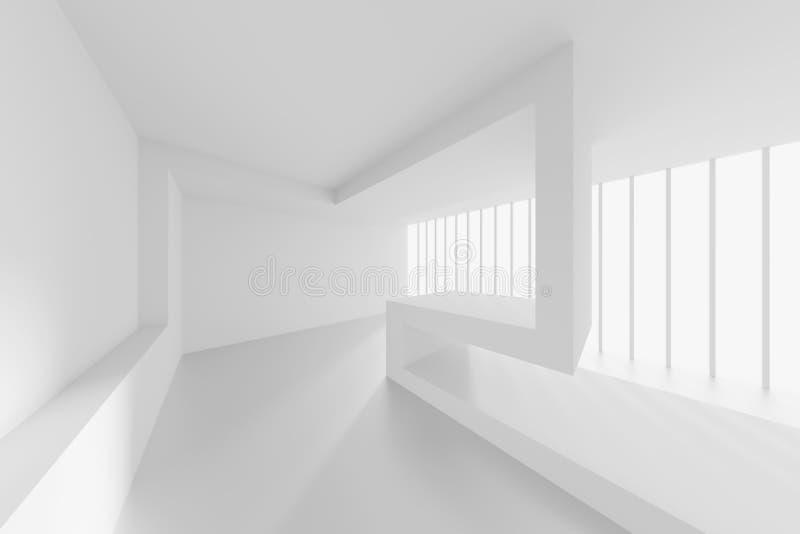 Disegno astratto di architettura Fondo interno futuristico bianco royalty illustrazione gratis
