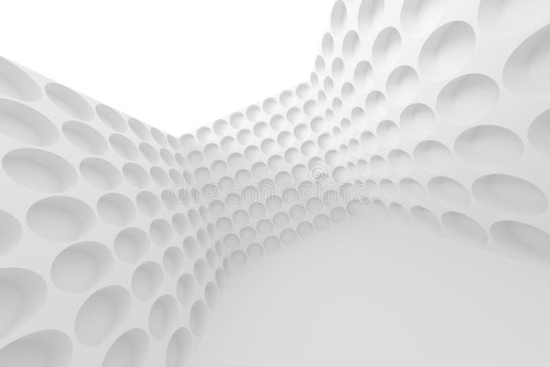 Disegno astratto di architettura Fondo interno futuristico bianco illustrazione vettoriale