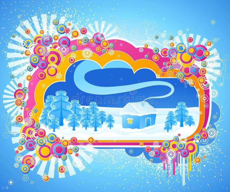 Disegno astratto di inverno. royalty illustrazione gratis
