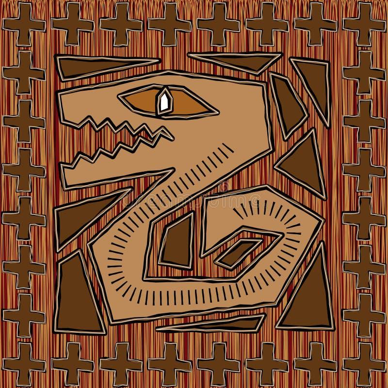 Disegno azteco illustrazione di stock