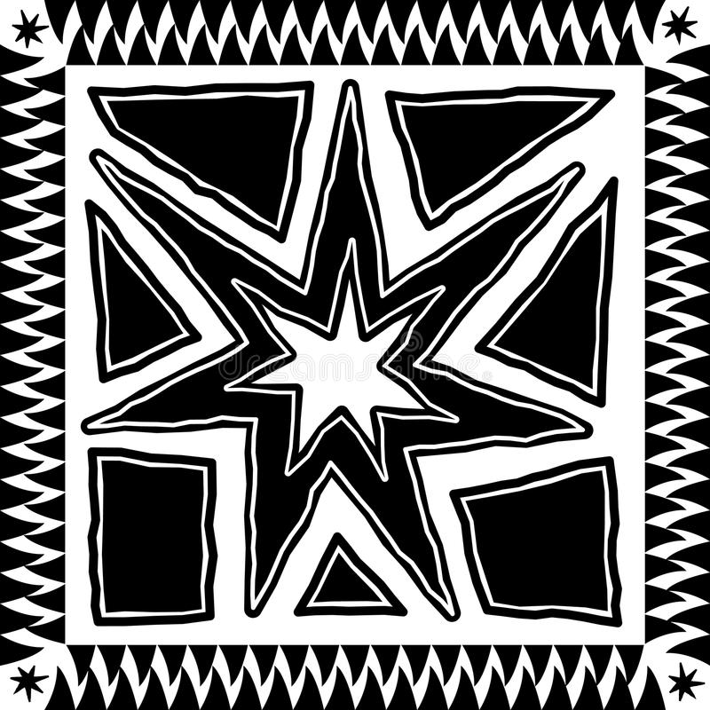 Disegno azteco illustrazione vettoriale
