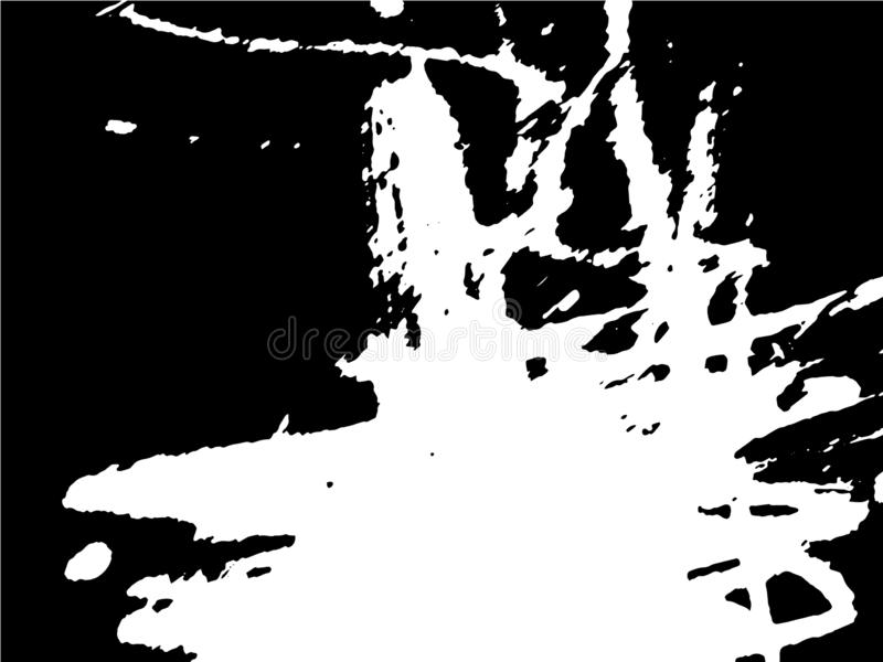 Disegno in bianco e nero astratto semplice Disegno espressivo Struttura monocromatica dai colpi della spazzola illustrazione di stock