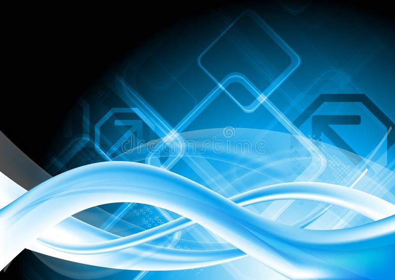 Disegno blu alta tecnologia illustrazione vettoriale