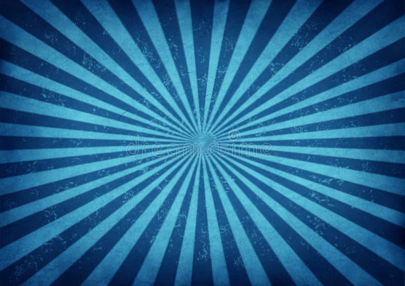 Disegno blu di burst della stella dell'annata royalty illustrazione gratis
