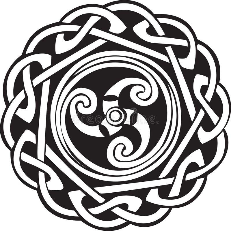 Disegno celtico astratto illustrazione vettoriale