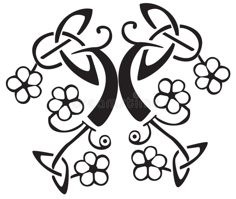 Disegno celtico del fiore   illustrazione di stock