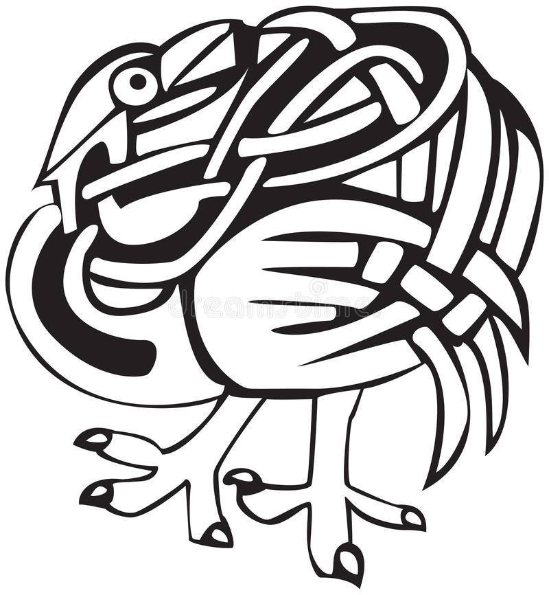 Disegno celtico dell'uccello illustrazione di stock