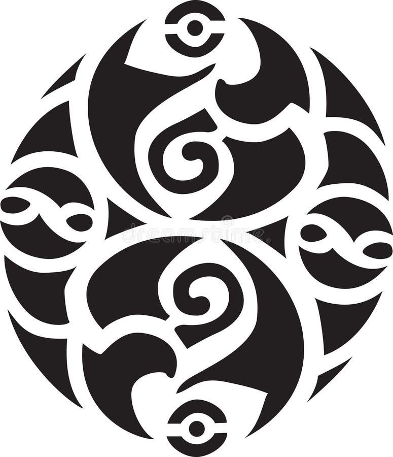 Disegno celtico irlandese illustrazione di stock