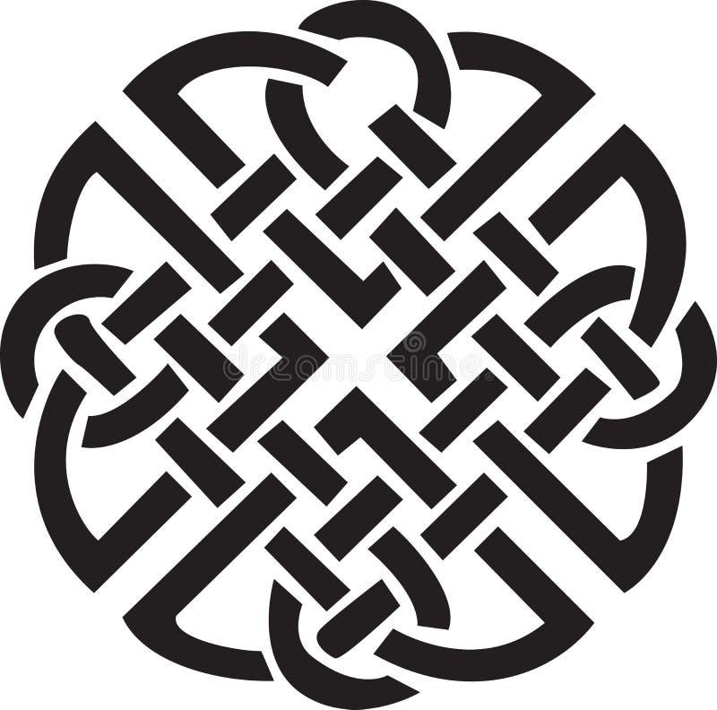 Disegno celtico irlandese royalty illustrazione gratis