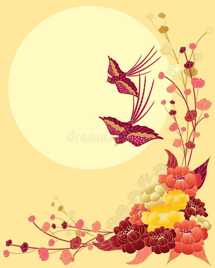 Disegno cinese dell'uccello royalty illustrazione gratis