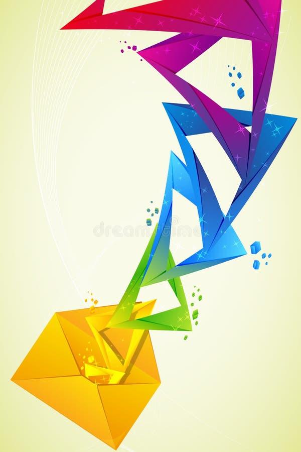 Disegno colourful astratto nella lettera illustrazione vettoriale