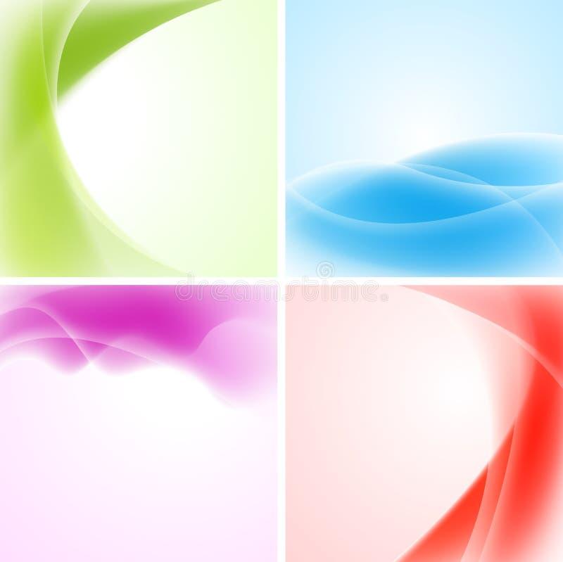 Disegno Colourful delle onde illustrazione vettoriale