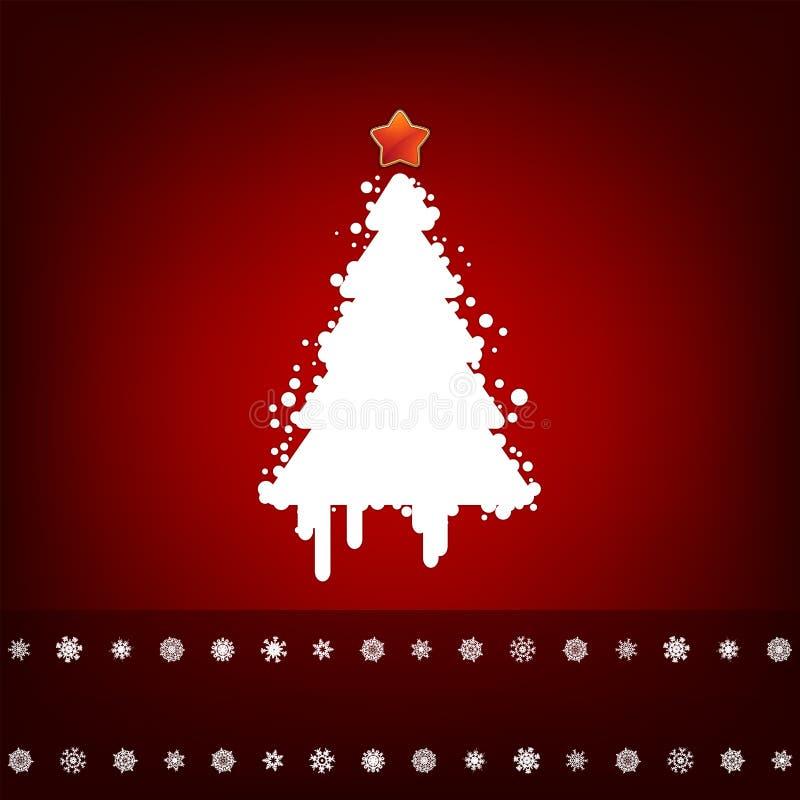 Disegno Con L Albero Di Natale. ENV 8 Immagine Stock Libera da Diritti