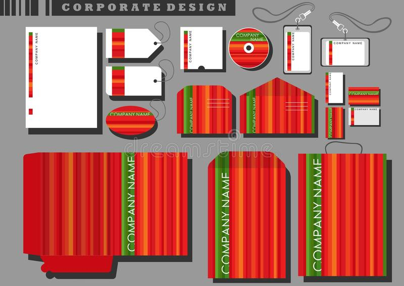 Disegno corporativo con le bande rosse royalty illustrazione gratis