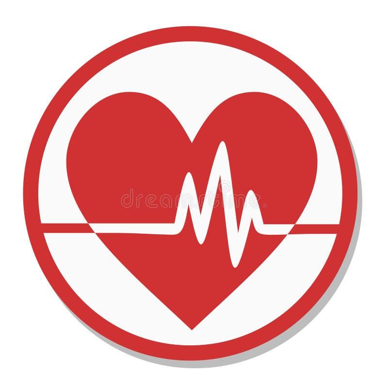 Impulso dell'etichetta del cuore illustrazione vettoriale